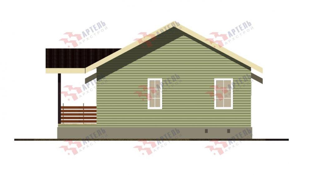 двухэтажный дом из бруса площадью от 100 до 150 кв. м. с  мансардой, проект Вариант 7М фотография 5109