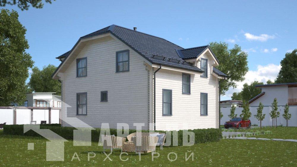 двухэтажный дом из бруса площадью от 100 до 150 кв. м., проект Вариант 9С фотография 5135