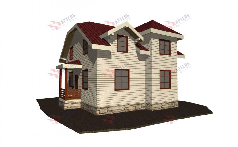 двухэтажный дом из бруса площадью от 100 до 150 кв. м., проект Вариант 9С фотография 5138