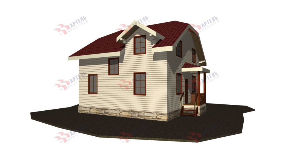 двухэтажный дом из бруса площадью от 100 до 150 кв. м., проект Вариант 9С фотография 5139