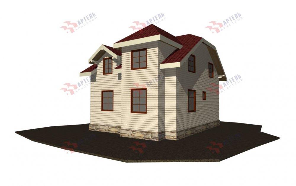 двухэтажный дом из бруса площадью от 100 до 150 кв. м., проект Вариант 9С фотография 5140