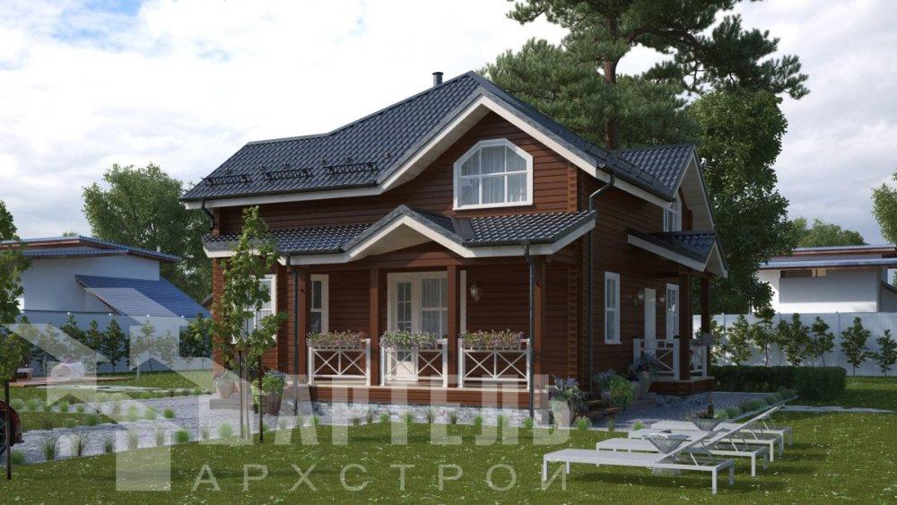 одноэтажный дом из профилированного бруса площадью от 150 до 200 кв. м., проект Вариант 9.3В фотография 5084