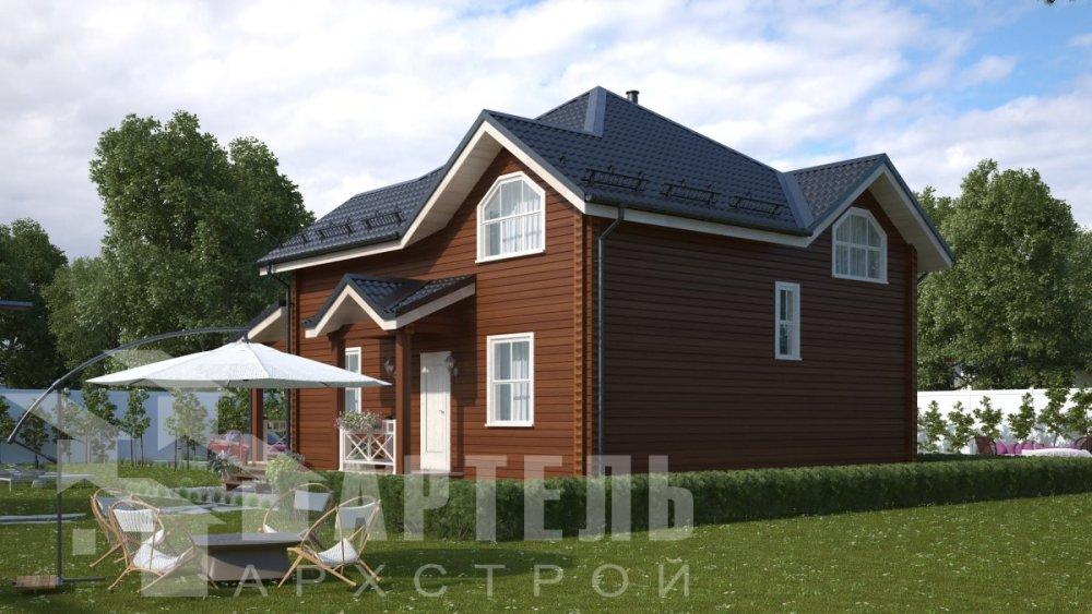 одноэтажный дом из профилированного бруса площадью от 150 до 200 кв. м., проект Вариант 9.3В фотография 5085