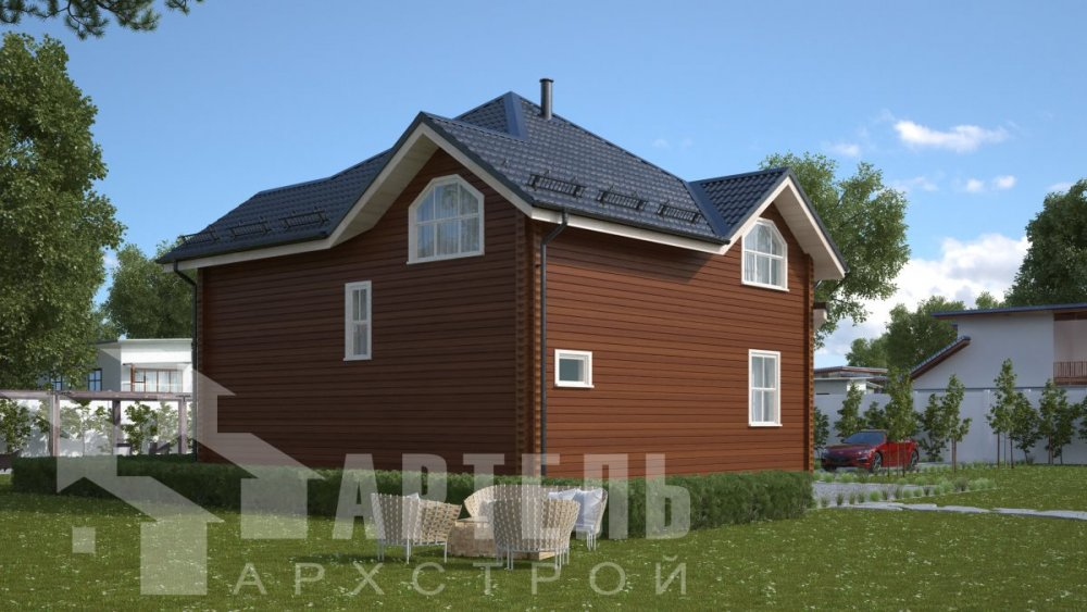 одноэтажный дом из профилированного бруса площадью от 150 до 200 кв. м., проект Вариант 9.3В фотография 5086