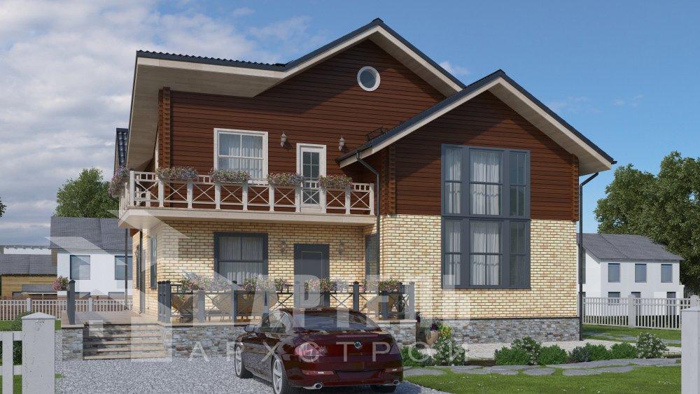 дом омбинированные дома, проект Вариант 12.6 А Комбинированный фотография 5516