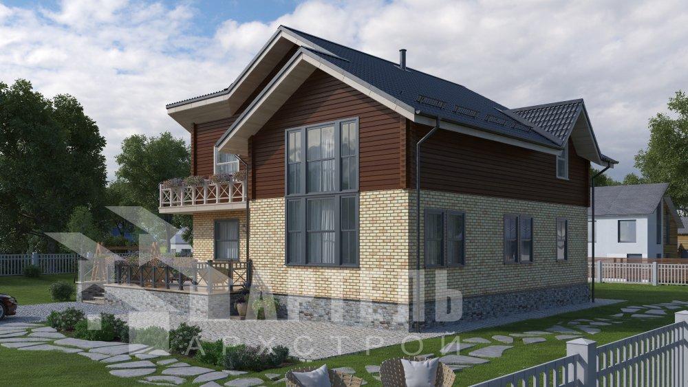 дом омбинированные дома, проект Вариант 12.6 А Комбинированный фотография 5517