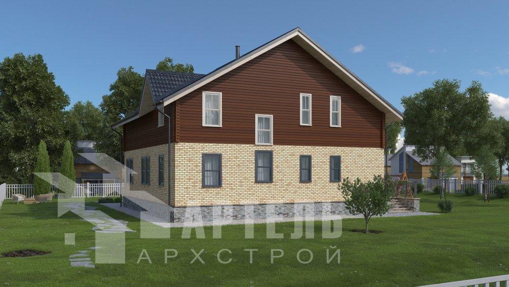 дом омбинированные дома, проект Вариант 12.6 А Комбинированный фотография 5518