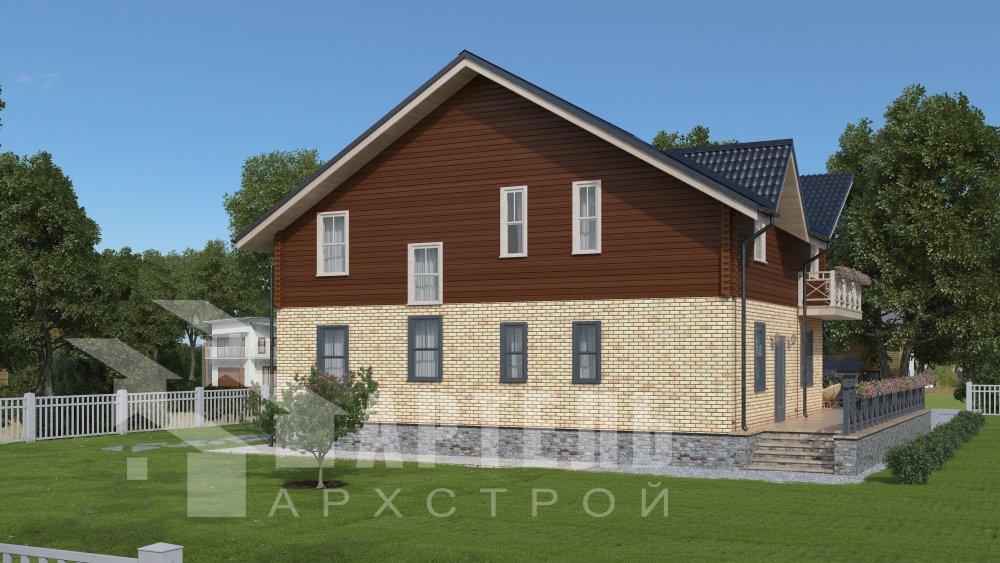 дом омбинированные дома, проект Вариант 12.6 А Комбинированный фотография 5519