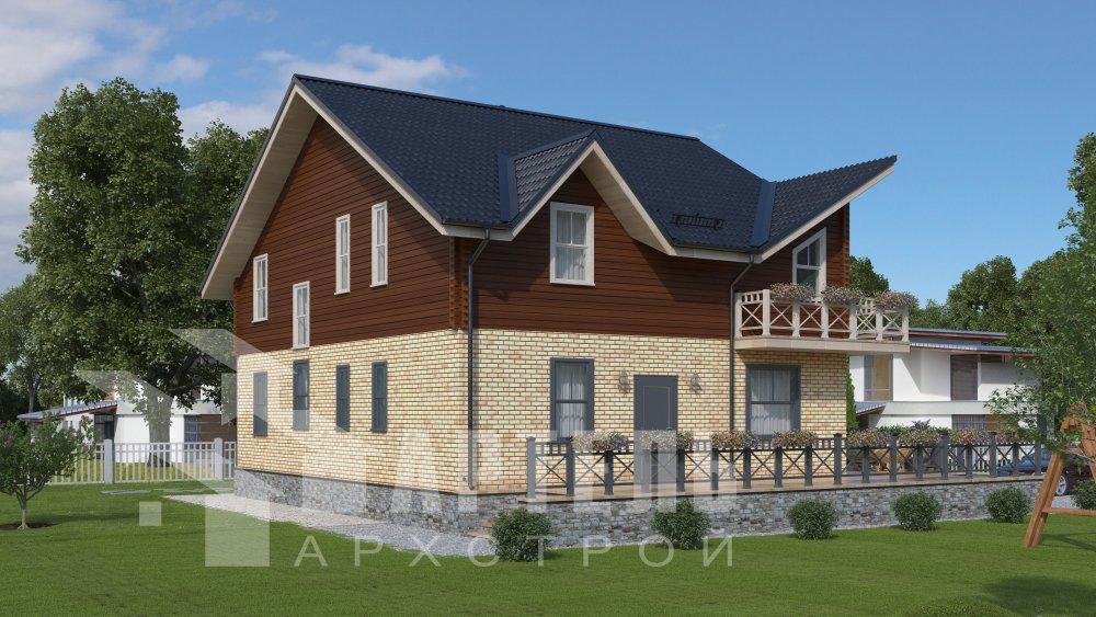 дом омбинированные дома, проект Вариант 12.6 А Комбинированный фотография 5520