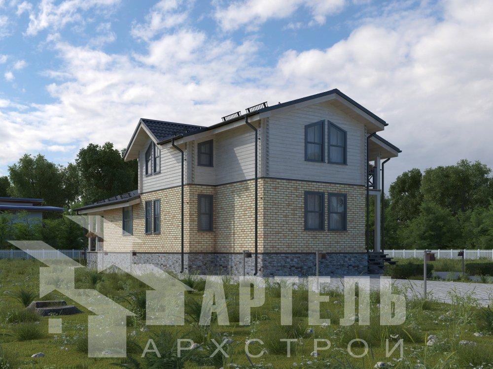 дом омбинированные дома, проект Вариант 15,9К Комбинированный фотография 5589