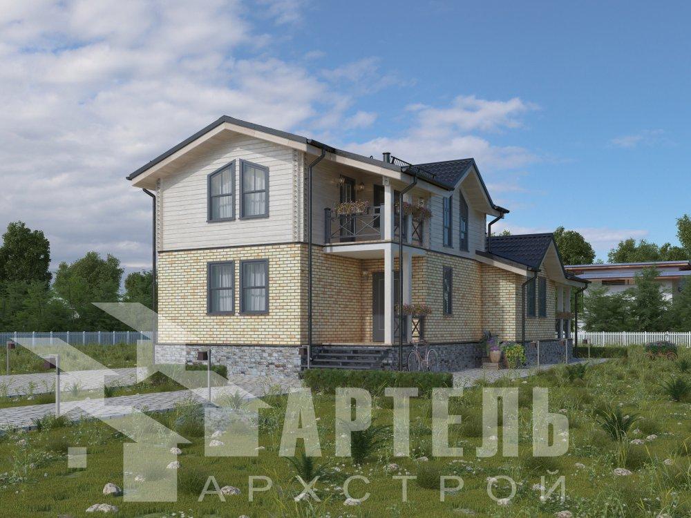 дом омбинированные дома, проект Вариант 15,9К Комбинированный фотография 5590