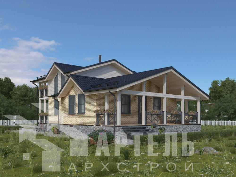 дом омбинированные дома, проект Вариант 15,9К Комбинированный фотография 5591