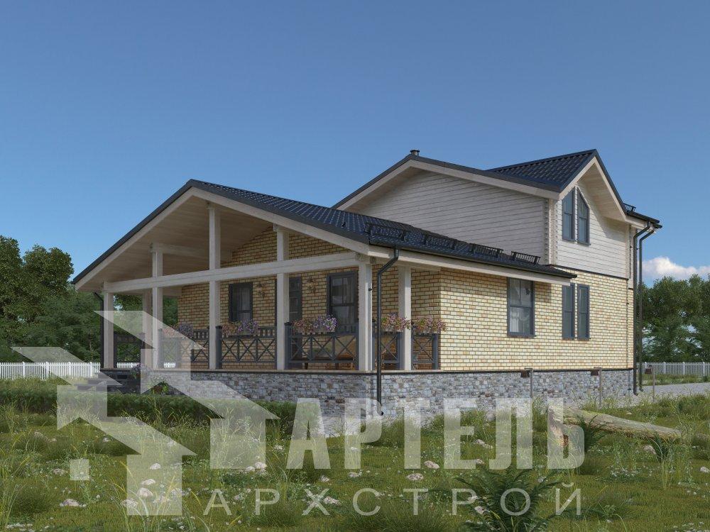 дом омбинированные дома, проект Вариант 15,9К Комбинированный фотография 5592