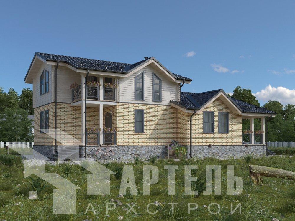 дом омбинированные дома, проект Вариант 15,9К Комбинированный фотография 5588