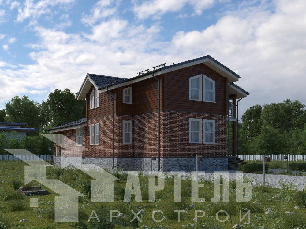 дом омбинированные дома, проект Вариант 15,9К Комбинированный фотография 5573