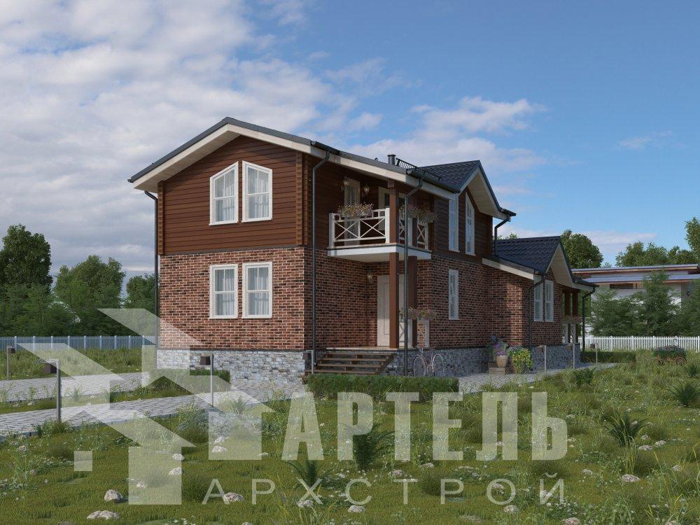 дом омбинированные дома, проект Вариант 15,9К Комбинированный фотография 5574
