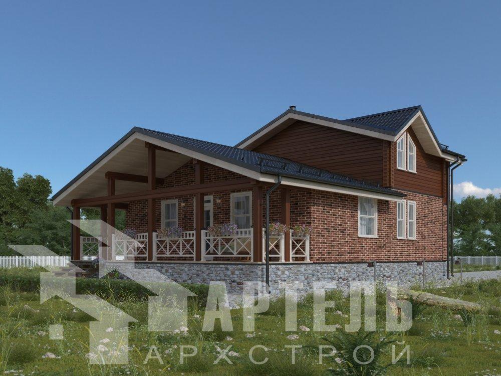 дом омбинированные дома, проект Вариант 15,9К Комбинированный фотография 5576
