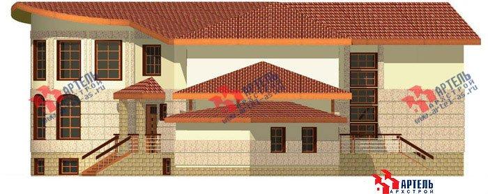 двухэтажный дом из камня площадью свыше 200 кв. м. с  террасой, эркером, проект Вариант 1 фотография 441