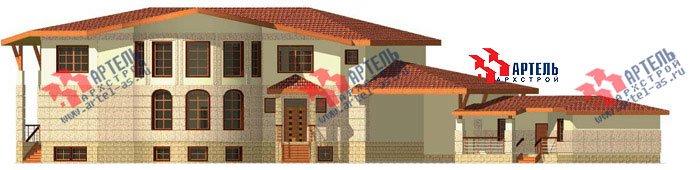 двухэтажный дом из камня площадью свыше 200 кв. м. с  террасой, эркером, проект Вариант 1 фотография 442