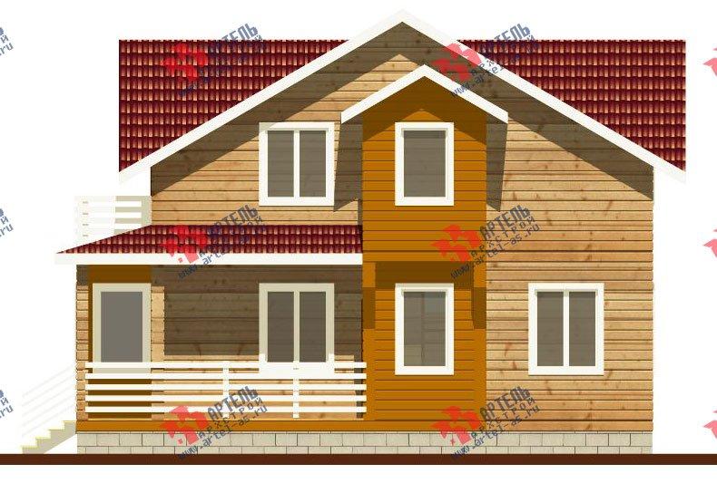 двухэтажный каркасный дом площадью от 100 до 150 кв. м. с  балконом, мансардой, террасой, проект Вариант 1 фотография 2520