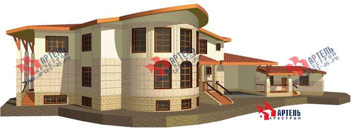двухэтажный дом из камня площадью свыше 200 кв. м. с  террасой, эркером, проект Вариант 1 фотография 443