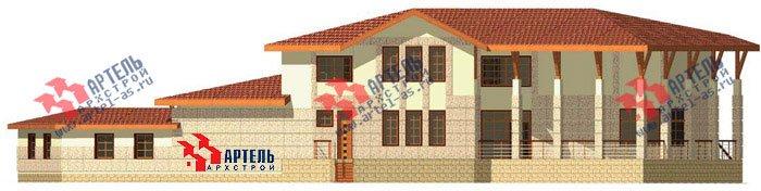 двухэтажный дом из камня площадью свыше 200 кв. м. с  террасой, эркером, проект Вариант 1 фотография 445