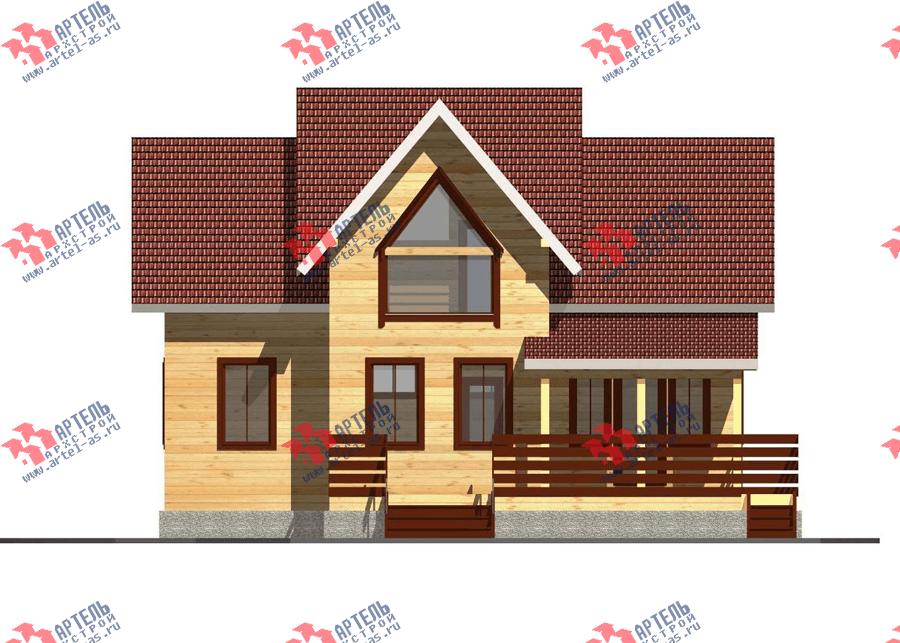 двухэтажный дом из профилированного бруса площадью от 150 до 200 кв. м. с  террасой, проект Вариант 10.5 В фотография 3507