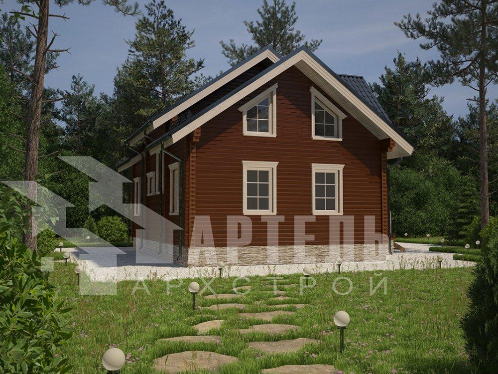 двухэтажный дом из профилированного бруса площадью от 150 до 200 кв. м. с  террасой, проект Вариант 10.5 В фотография 4282