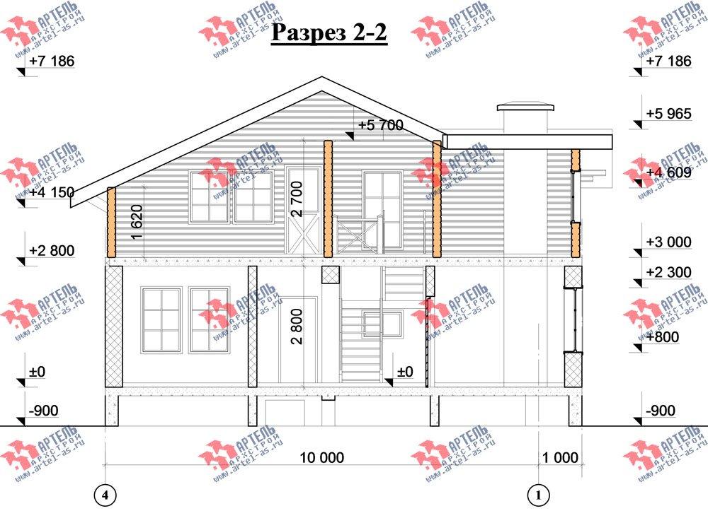 двухэтажный дом из камня площадью от 150 до 200 кв. м. с  балконом, эркером, проект Вариант 26 фотография 2831