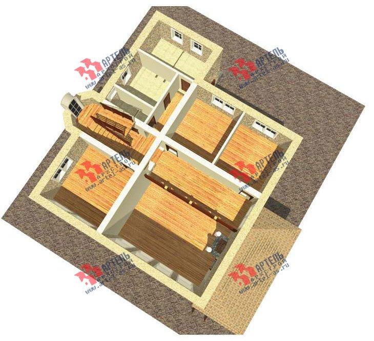 трёхэтажный дом из камня площадью свыше 200 кв. м. с  балконом, мансардой, эркером, проект Вариант 24 фотография 2739