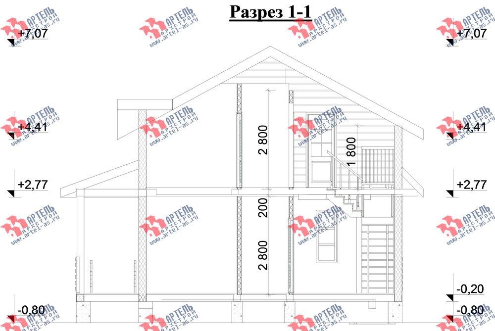 двухэтажный дом из профилированного бруса камерной сушки площадью от 100 до 150 кв. м. с  мансардой, проект Вариант 6 фотография 2795