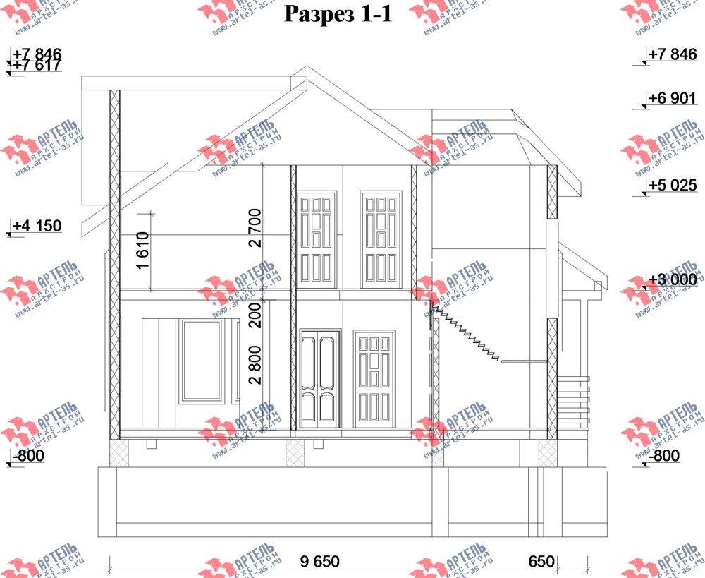двухэтажный дом из профилированного бруса камерной сушки площадью от 150 до 200 кв. м. с  террасой, эркером, проект Вариант 8 фотография 2817