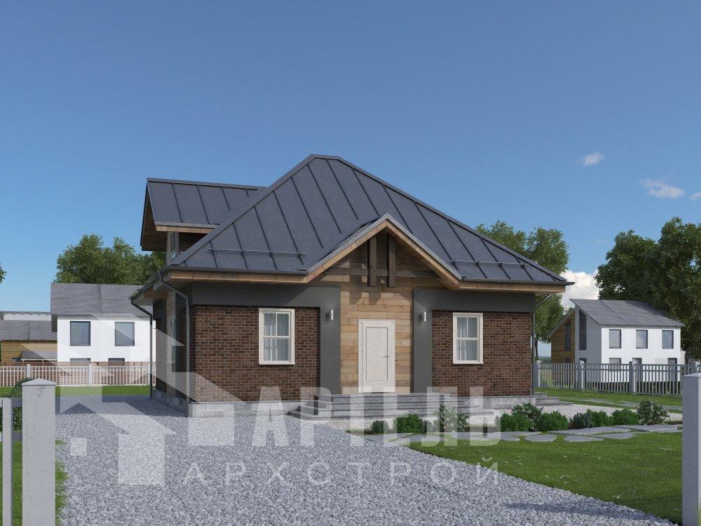 дом омбинированные дома, проект Вариант 10,5К Комбинированный фотография 5731