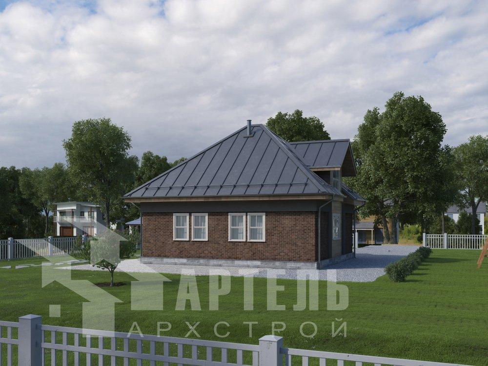 дом омбинированные дома, проект Вариант 10,5К Комбинированный фотография 5753