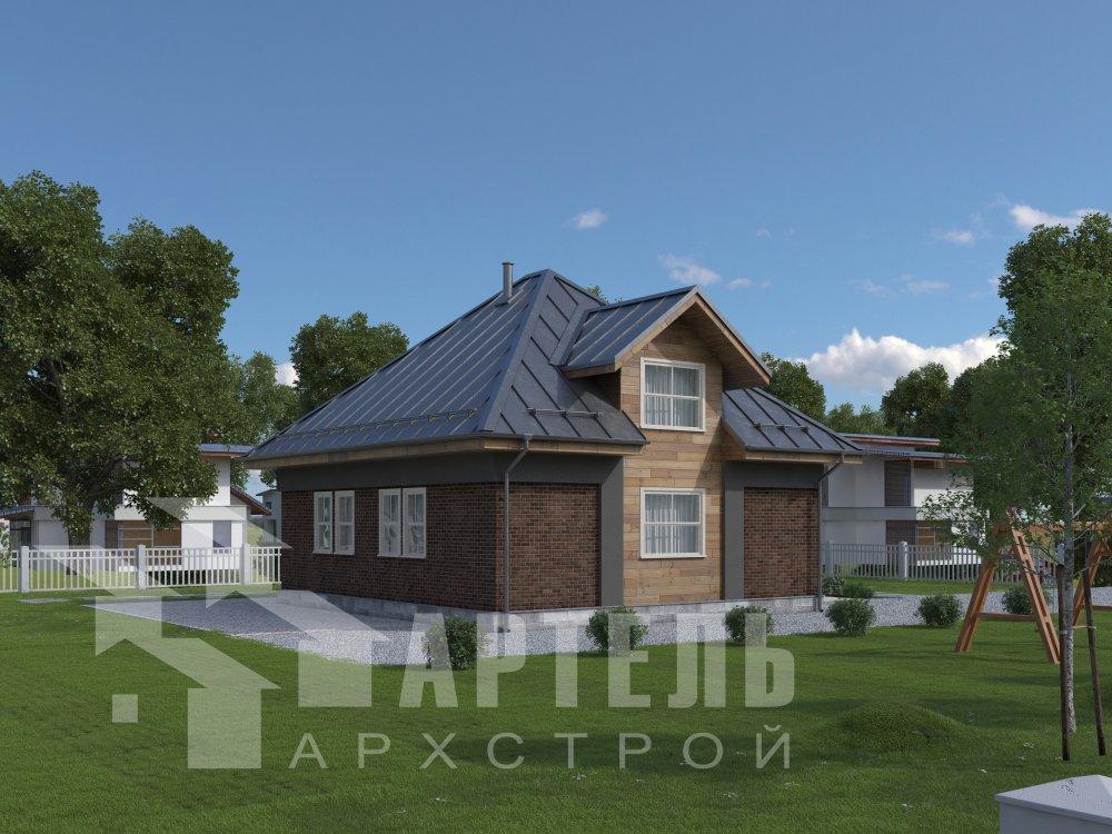 дом омбинированные дома, проект Вариант 10,5К Комбинированный фотография 5754