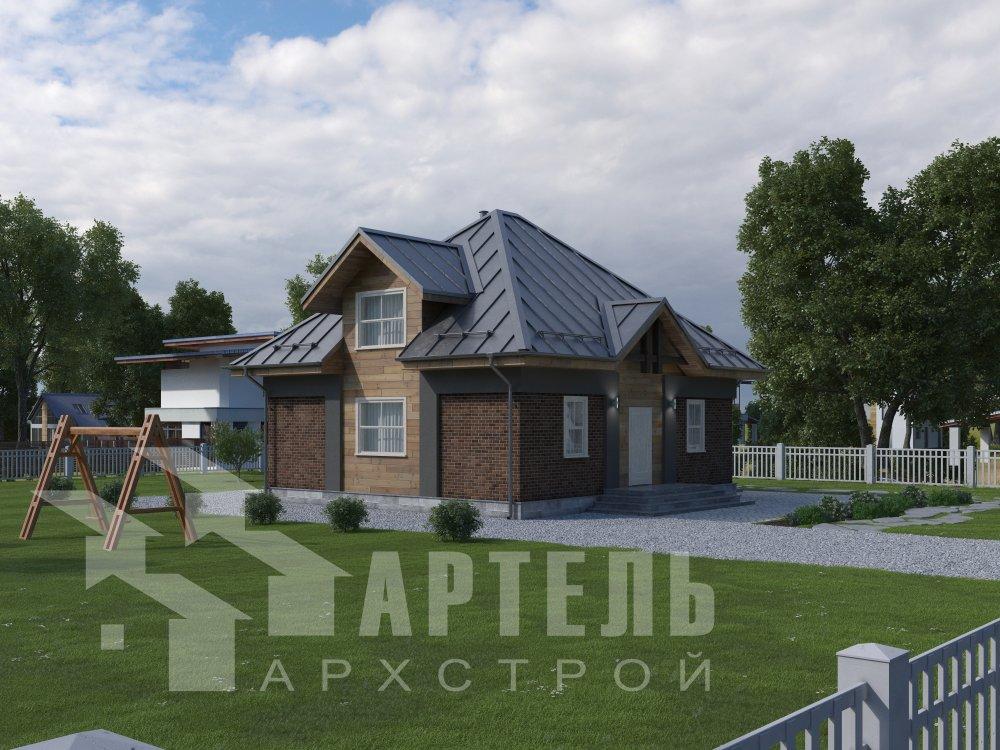 дом омбинированные дома, проект Вариант 10,5К Комбинированный фотография 5736