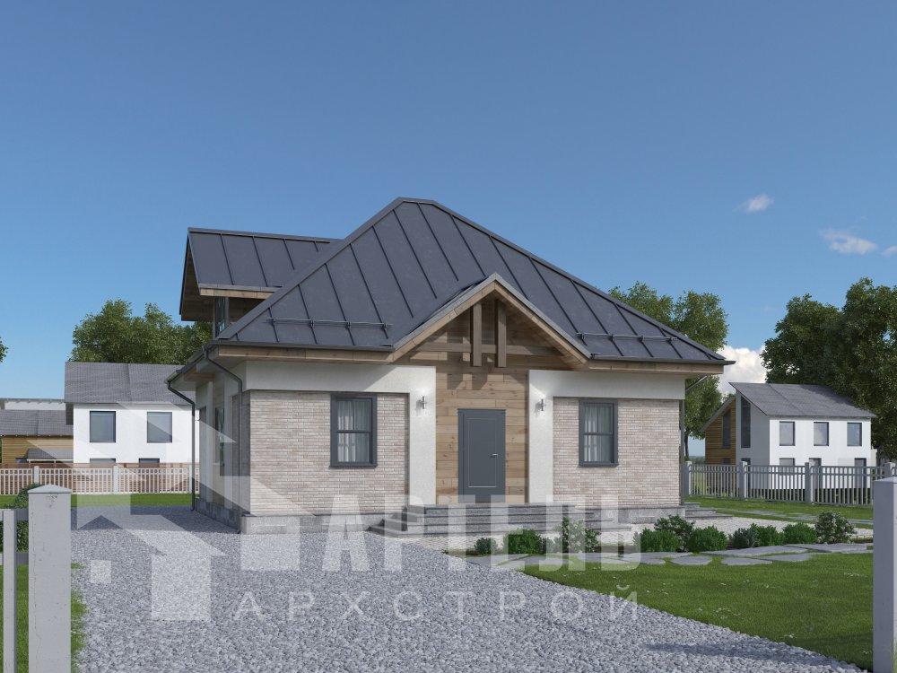 дом омбинированные дома, проект Вариант 10,5К Комбинированный фотография 5737