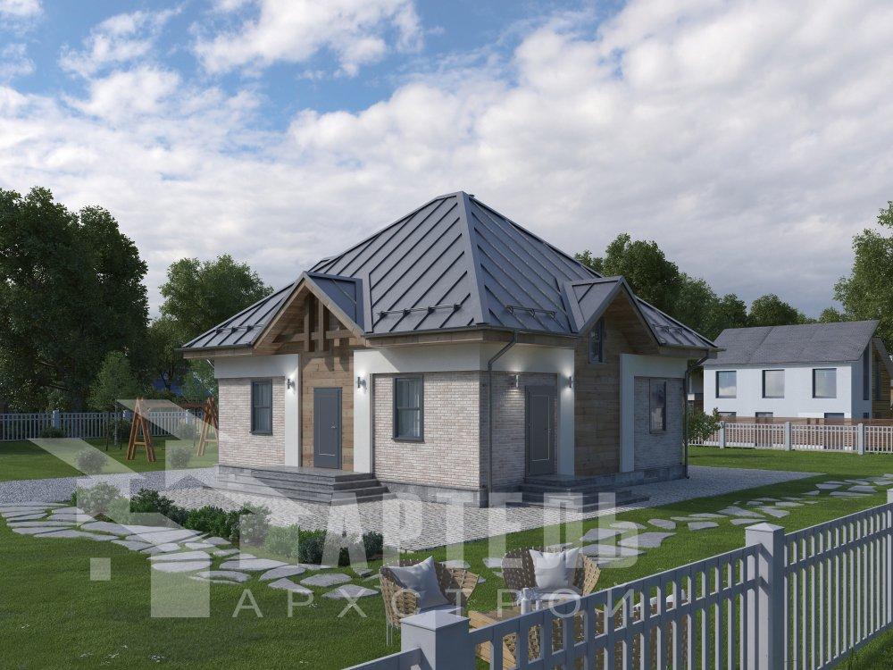 дом омбинированные дома, проект Вариант 10,5К Комбинированный фотография 5738