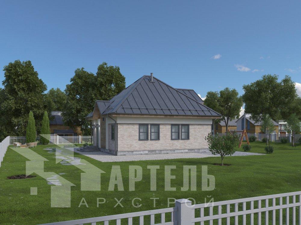 дом омбинированные дома, проект Вариант 10,5К Комбинированный фотография 5739