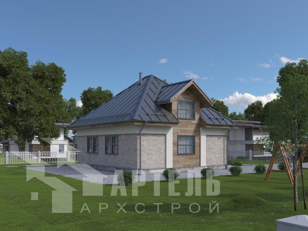 дом омбинированные дома, проект Вариант 10,5К Комбинированный фотография 5741