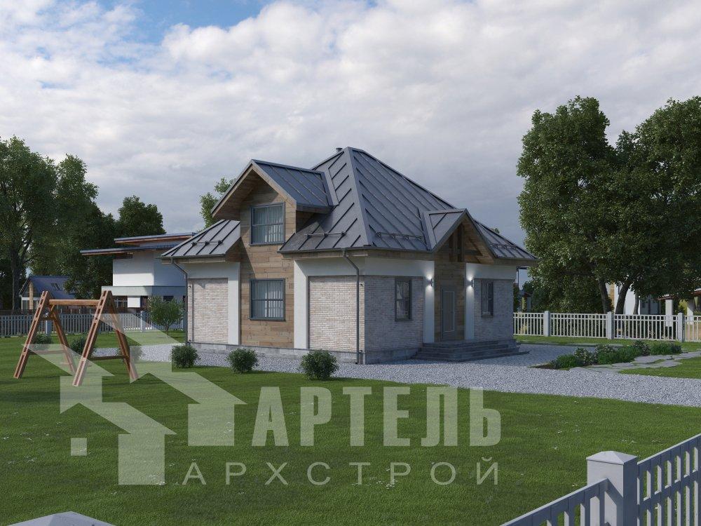 дом омбинированные дома, проект Вариант 10,5К Комбинированный фотография 5742