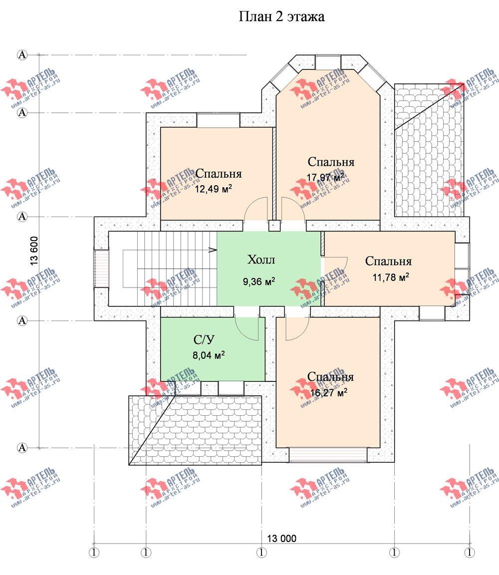 двухэтажный дом из камня площадью от 150 до 200 кв. м. с  эркером, проект Вариант 10 фотография 547