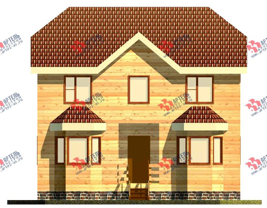 двухэтажный дом из бруса площадью от 100 до 150 кв. м. с  мансардой, эркером, проект Вариант 7 Б фотография 914