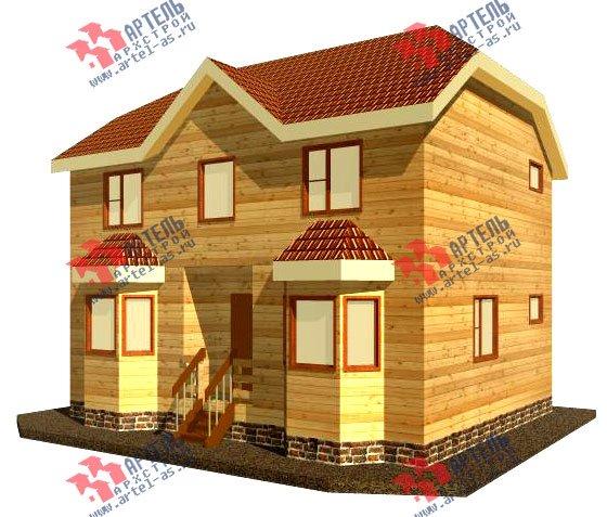 двухэтажный дом из бруса площадью от 100 до 150 кв. м. с  мансардой, эркером, проект Вариант 7 Б фотография 913