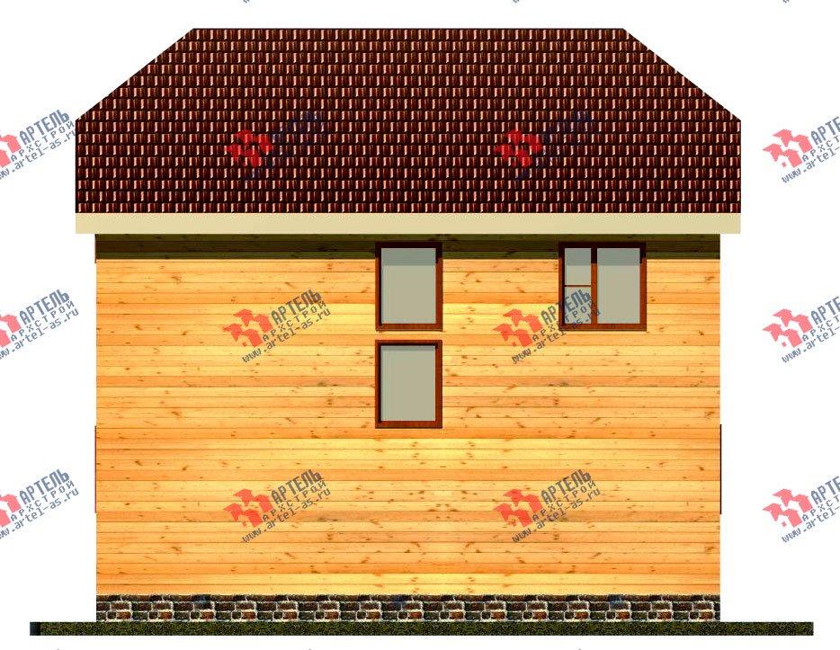 двухэтажный дом из бруса площадью от 100 до 150 кв. м. с  мансардой, эркером, проект Вариант 7 Б фотография 916