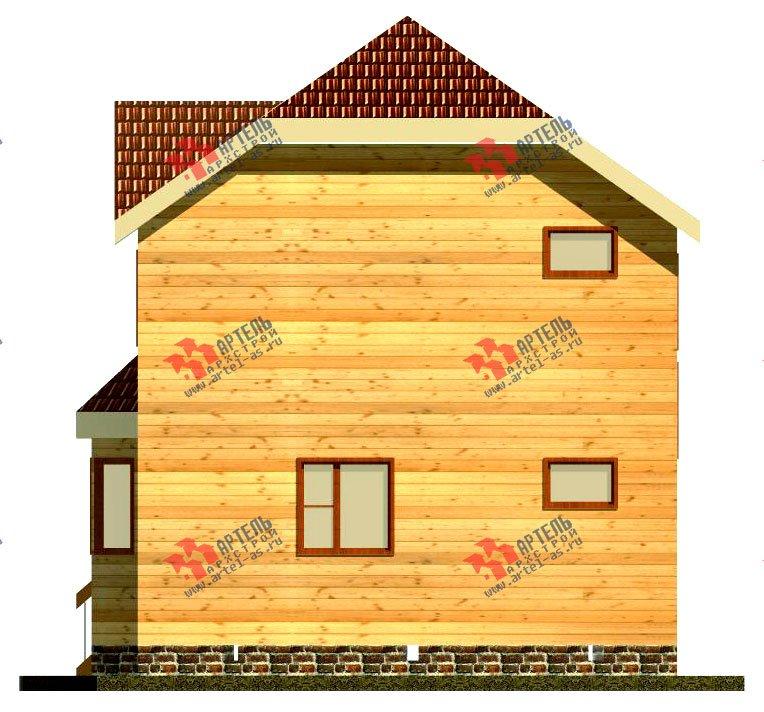 двухэтажный дом из бруса площадью от 100 до 150 кв. м. с  мансардой, эркером, проект Вариант 7 Б фотография 917