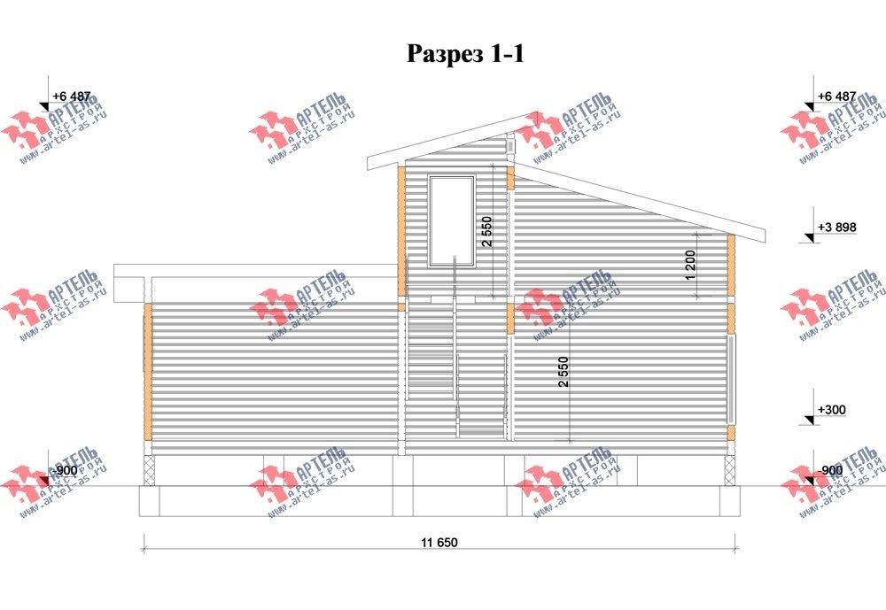 двухэтажный дом из бруса площадью до 100 кв. м. с  мансардой, проект Вариант 7 Л фотография 2169