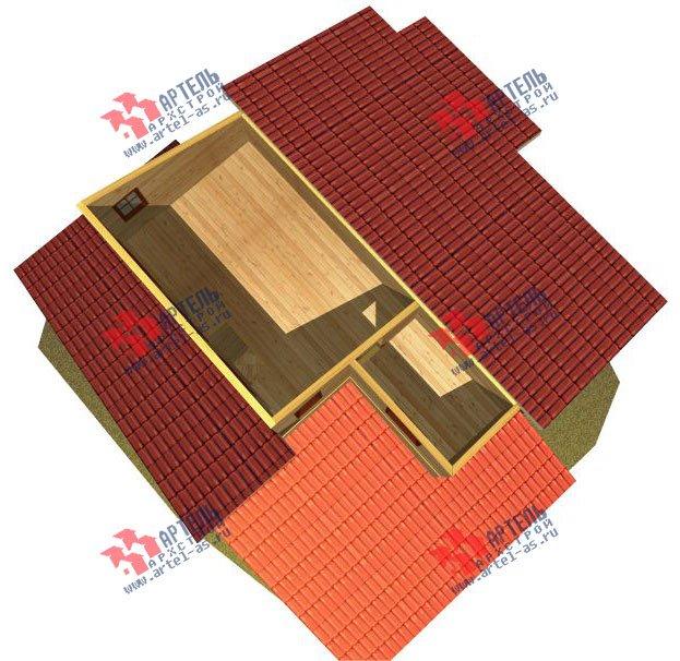 двухэтажный дом из бруса площадью от 150 до 200 кв. м. с  мансардой, террасой, проект Вариант 13 В фотография 2227