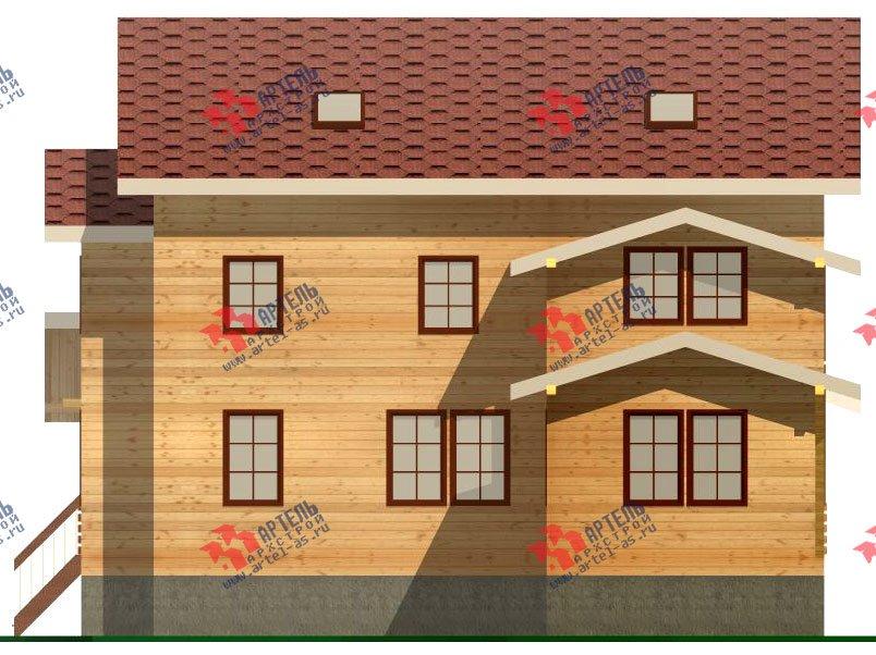 двухэтажный дом из бруса площадью свыше 200 кв. м. с  мансардой, террасой, проект Вариант 11.1 А фотография 2583
