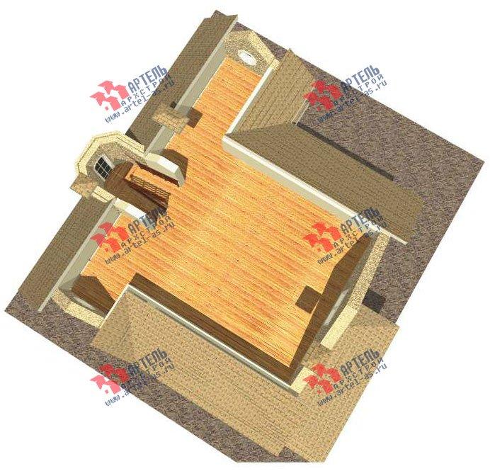 трёхэтажный дом из камня площадью свыше 200 кв. м. с  балконом, мансардой, эркером, проект Вариант 24 фотография 2740